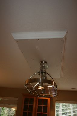Custom Made Drop Ceiling With Hanging Pot Rack