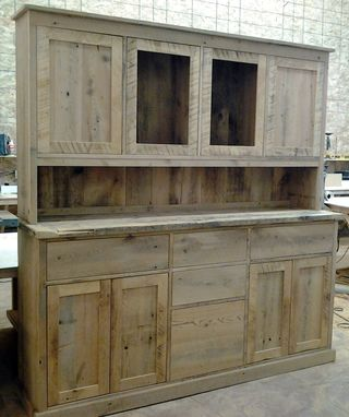 Custom Made Hutch & Buffet - Reclaimed / Salvaged Lumber