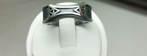 Custom Made Zelda Wedding Band In Oxidized Sterling Silver