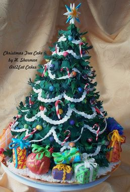 Custom Made Christmas Tree Cake Art