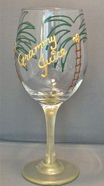 Custom Made Mommy Juice Wine Glass