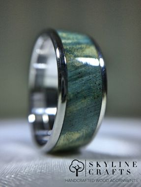 Custom Made Dyed Buckeye Burl Wood Ring.