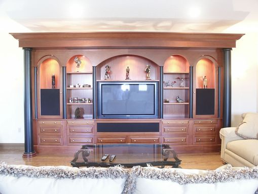 Custom Made Mahogany Home Theater
