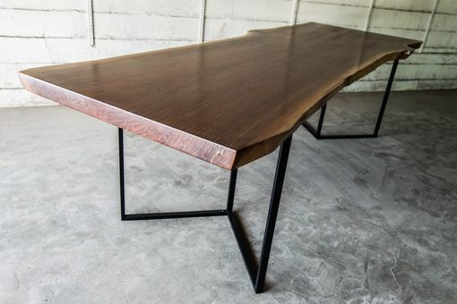 Custom Made Modern Walnut Live Edge Dining / Conferencetable