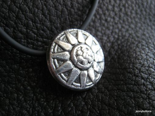 Custom Made Sunny Day Sterling Silver Pendant Necklace