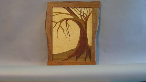 Custom Made Marquetry Portrait Of A Tree