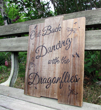 Custom Made Out Back Dancing With The Dragonflies Wood Wall Art