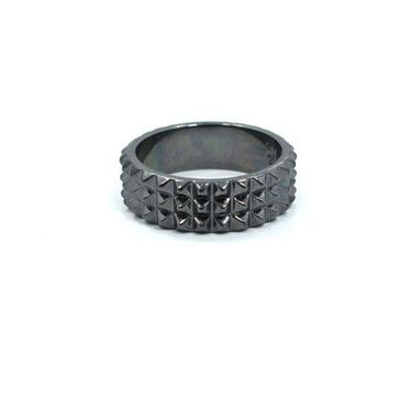 Custom Made 3 Row Spike Ring Precious Metals