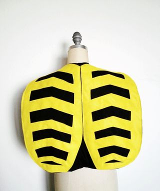 Custom Made Bumble Bee Cape, Halloween Costume Or Dress Up Cape For All Ages