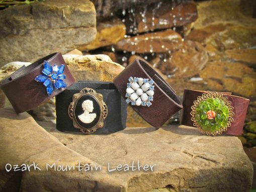 Custom Made Vintage Leather Cuff Or Leather Bracelet