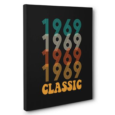 Custom Made Retro Vintage 1969 Canvas Wall Art