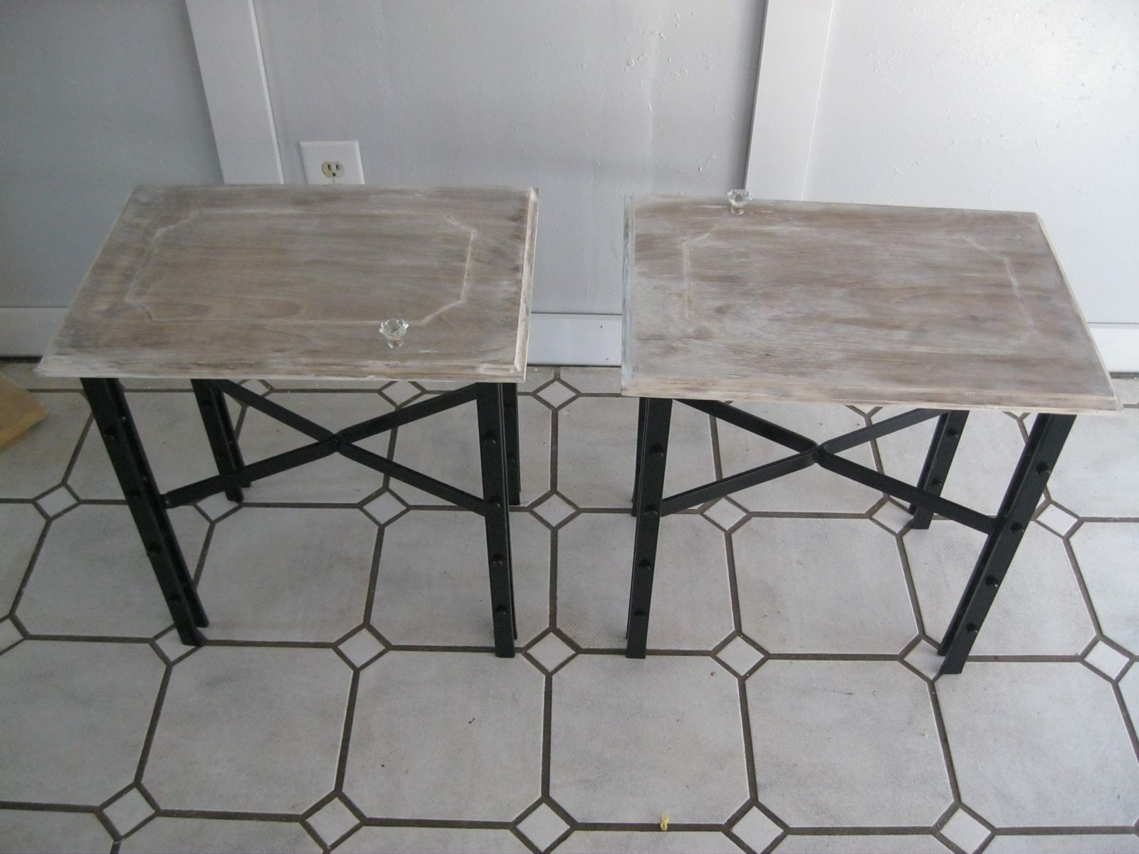 Custom Made Wrought Iron End Tables by Mciron | CustomMade.com