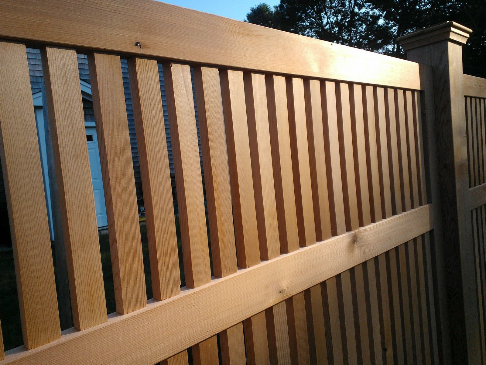 custom red cedar fence panels by tradecraft custom woodworking