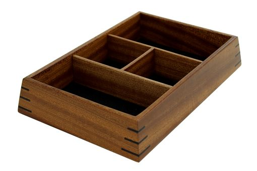 Custom Made Valet Box | Solid Sapele With Wenge Splines