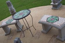 Custom Made Mosaic Patio Set