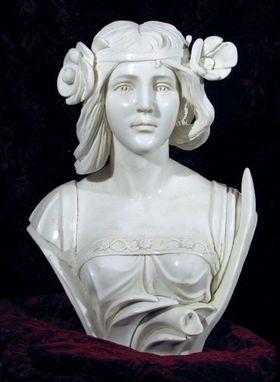 Custom Made Marble Bust Of A 30s Flapper Girl