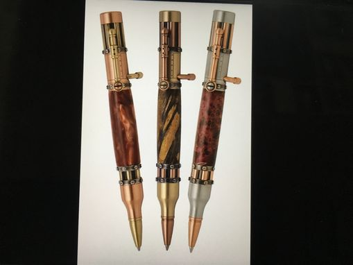 Custom Made Hand Crafted Steampunk Style Bolt Action Pen