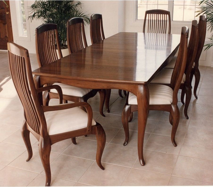 Custom Made Cabriole Dining Table Amp Chairs By Louis Fry
