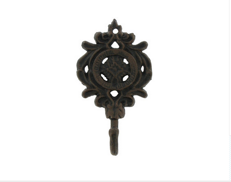 Custom Made Bronze Ornate Metal Hook