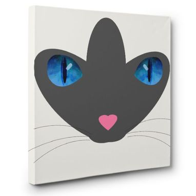 Custom Made Siameses Cat Canvas Wall Art