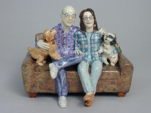 Custom Made Sculpted Portraits Of People And Dogs