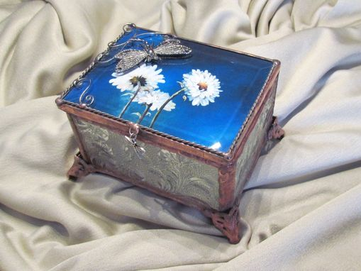 Custom Made Daisies&Dragonflies Jewelry Box