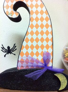 Custom Made Halloween--Witch Hat Decoration