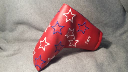 Custom Made Custom Putter Fore Leaf Golf Head Cover, Red With White And Blue Stars