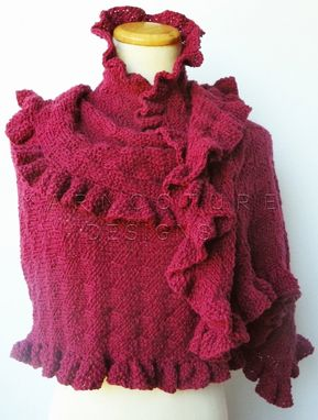Custom Made The Extreme Ruffles Shawl - Luxury Wrap / You Choose The Color