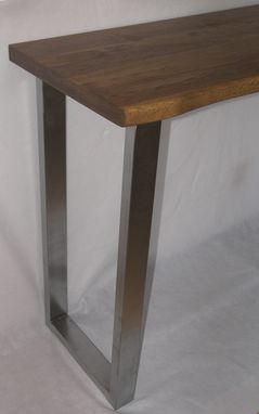 Custom Made Urban Industrial Table/Desk, Modern Sofa Table, Kitchen Island/Counter