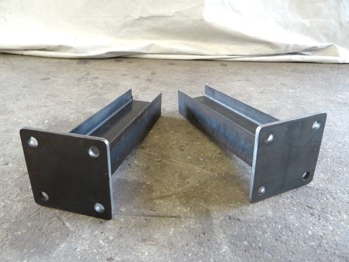 Custom Made Industrial Modern Stee; I-Beam Pedestal Coffee Table Legs