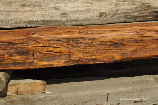 Custom Made Hand Hewn Pine Fireplace Mantel Beam