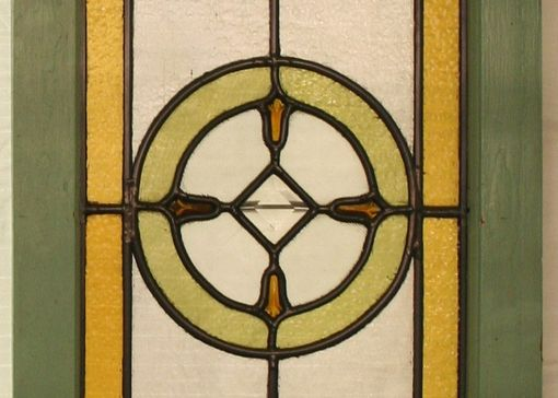 Custom Made Geometric Stained Glass Panels