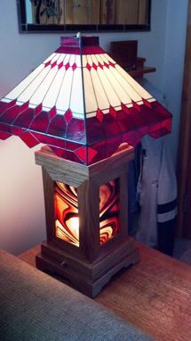 Custom Made Custom Wood And Stained Glass Lamps