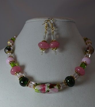 Custom Made Spring Confetti - Necklace & Earrings Set