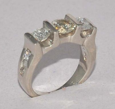Custom Made Three Diamond Ring Mk