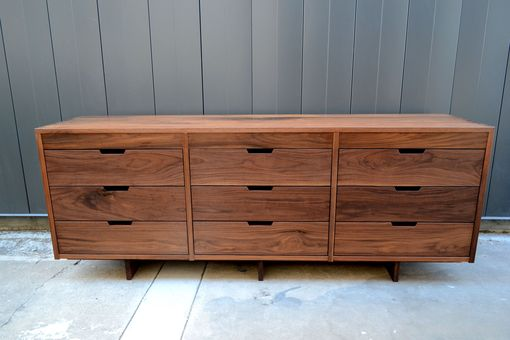 Custom Made Walnut Bedroom Set - Dresser And Night Stands