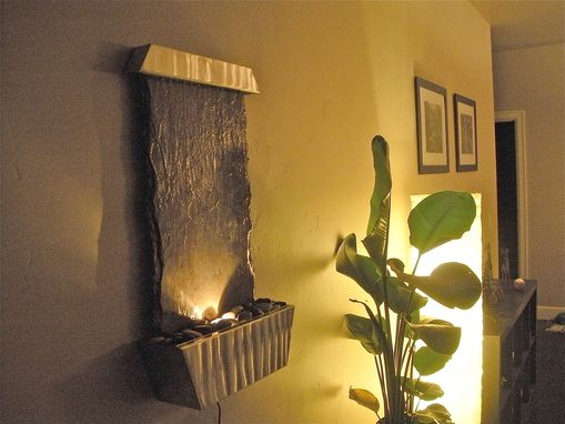 Custom Made Small Slate Wall Fountain