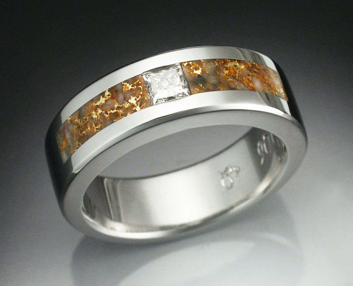 titanium pure gold and ring mans wedding custom wes s made wesandgold by rings man