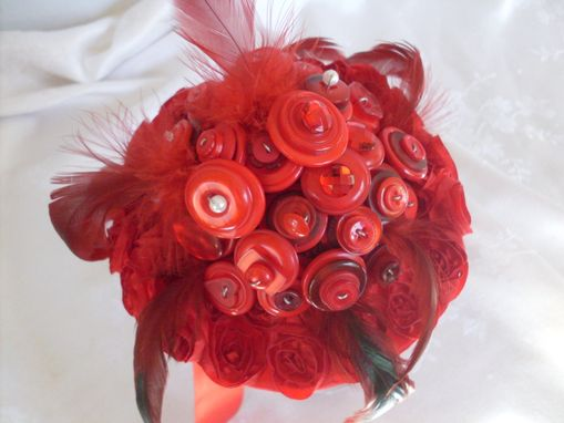Custom Made Red Hot Buttons Bridal Bouquet