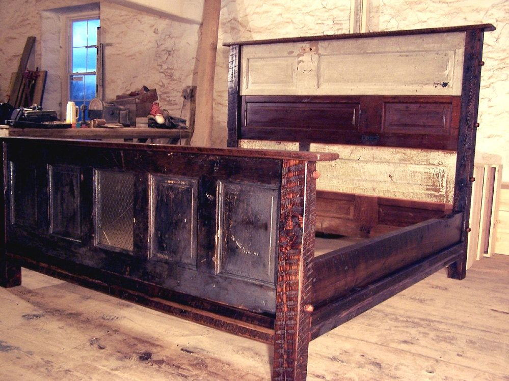 A Custom Faulkner Street Door Bed Made From Reclaimed Wood