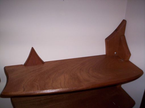 Custom Made Mahogany Wall Shelves
