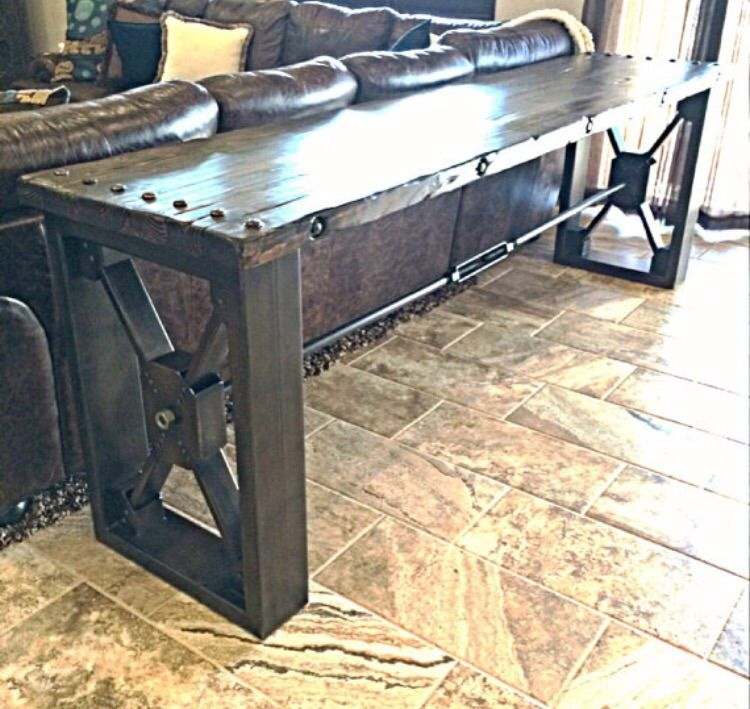 Hand Made Drexel Sofa Table By Ironclad Vintage