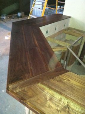 Custom Made Black Walnut Bar Top