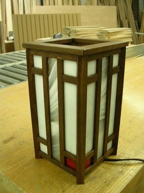 Custom Made Mission Style Lamp