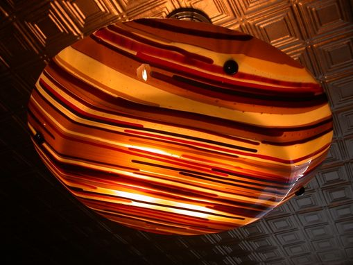 Custom Made Light Fixture, Kiln Worked Glass
