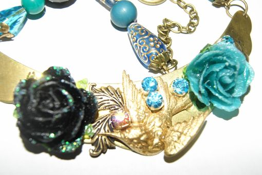 Custom Made Golden Bird Of Paradise Necklace - Signed Piece - Ooak