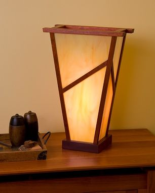 Custom Made Angled Stained Glass Lamp