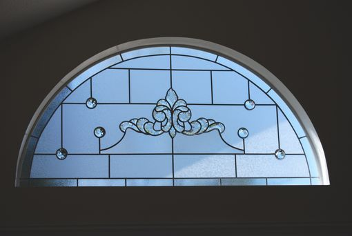 Custom Made Arched Stained Glass Panel