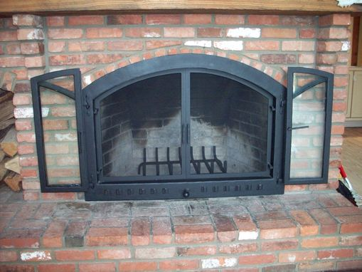 Custom Made Fire Place Doors